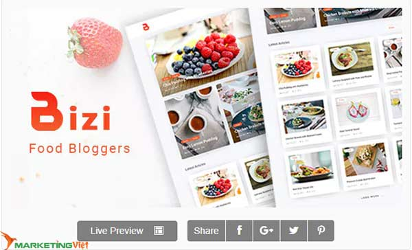 Theme Bizi - A WordPress Theme for Food Bloggers