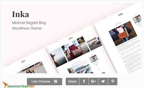 Theme Inka | Minimal Blog WordPress